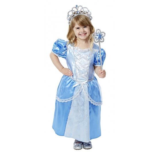 1a035a80be3853 Blauwe prinsessenjurk met accessoires voor meisjes bij Fun en Feest ...